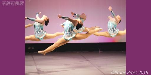 天理パフォーマンスフェスティバル 2018 大阪樟蔭女子大学新体操部 画像
