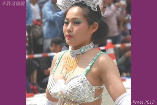 神戸まつり2017 立正佼成会KOBE RKKサンバチーム サンバ少女 画像